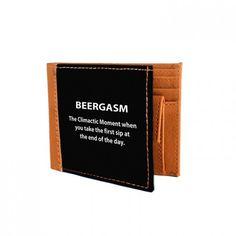 Beergasm Canvas Wallet