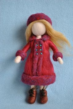 needle felting waldorf doll