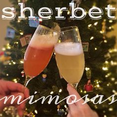 Sherbet Mimosas--Great for any holiday brunch.