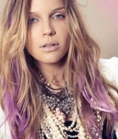 Hair Chalk... just streaked my hair this color ;)