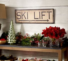 Perfect!! Ski Lift Sign | Pottery Barn