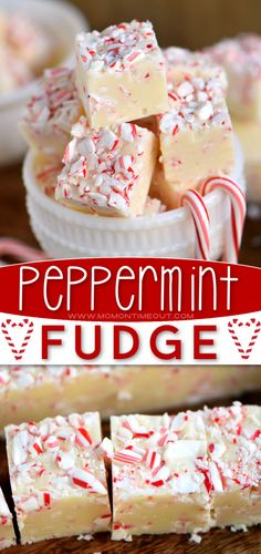 Nothing screams Christmas just like this Practically Perfect Peppermint Fudge! A handful of ingredients are all you need to have this easy candy recipe ready in 5 minutes. Whip up a batch of this pretty and festive holiday dessert to share with your family and friends! Easy Candy Recipes, Simple Recipes, Yummy Recipes, Cooking Recipes, Yummy Food, Christmas Desserts, Christmas Recipes, Christmas Cookies, Making Food