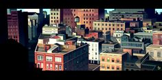 Rooftops by Romain Trystram, via Behance