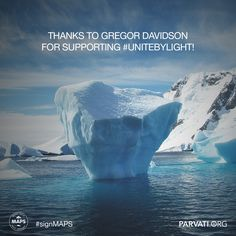 #Gratitude to Gregor Davidson for supporting #unitebylight at parvati.org!   Since our inception two years ago, Parvati.org has been self-funded and 100% volunteer-driven. Our goal is to realize MAPS: the Marine Arctic Peace Sanctuary by the end of 2018. The planet can't wait.  If you have not already, please sign the MAPS petition at parvati.org!