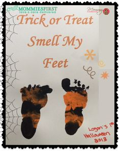 A #baby footprint #craft for #Halloween via @MommiesFirstBox and @MommyConnectionsLDN