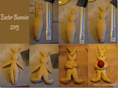 How to form an Easter bunny (Variation 2)