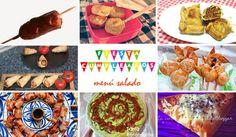 Entrantes y aperitivos para servir en una fiesta de cumpleaños