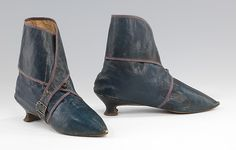 Boots, 1795–1810, European, leather. 8 x 9 1/2 in. (20.3 x 24.1 cm); Gift of the Brooklyn Museum, 2009; Gift of Herman Delman, 1954; 2009.300.1486a, b.