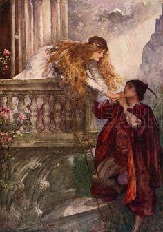 Romeo and Juliet. Illustration for Children's Stories from Shakespeare by E Nesbit (Raphael Tuck, c 1900).