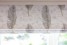 Bespoke blind by Sophie Sews in Woking Panel Blinds, Roman Blinds, Types Of Blinds, Electric Blinds, Net Curtains, Feather Pattern, Roller Blinds, Home Reno, Windows And Doors