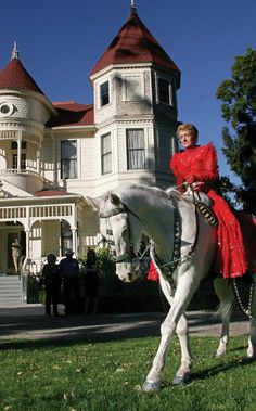 The Camarillo Ranch house and the Camarillo White horse and all of its Finery.