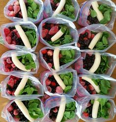Green Smoothie Prep Packets ready to go
