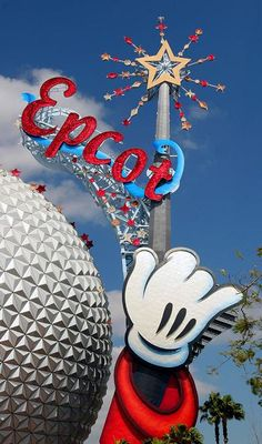 The infamous Mickey Wand on Spaceship Earth. Some people loved it, some people hated it. Now it's gone.
