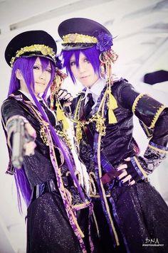 Vocaloid Cosplay ~.~ Gakupo Camui and Kaito Shion from Loveless XX  VocaloidのコスプレラブレスXXから〜。〜がくぽと怪盗 ♥ <3