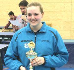 Angelique Gertenbach van de TTSD wint het meisjes junioren A-toernooi in Weert, 2014