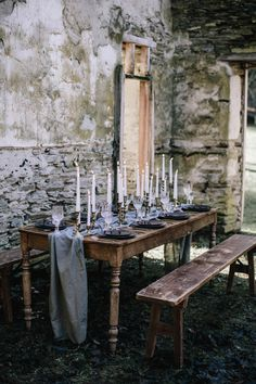 Moody winter table decor inspiration | Image by White Ash Photography