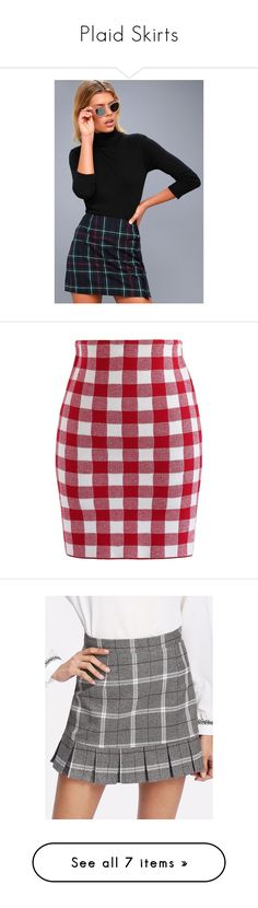 """Plaid Skirts"" by sara-wilder ❤ liked on Polyvore featuring skirts, mini skirts, green, high-waist skirt, plaid mini skirt, plaid miniskirts, high waisted a line skirt, tartan mini skirt, red and tartan miniskirts"