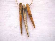 3 Golden Tribal Long Spike Handmade and Painted by RaggedRobyn, £14.00