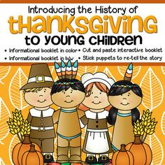 THANKSGIVING History and Vocabulary Introduction to Toddlers and Preschool