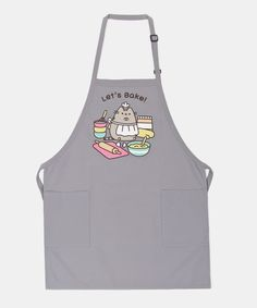 "Pusheen ""Let's Bake!"" Apron - One Size Pusheen T Shirt, Pusheen Love, Pusheen Shop, Pusheen Plush, Pusheen Stuff, Pusheen Birthday, Look Cool, Things To Buy, Cute Outfits"