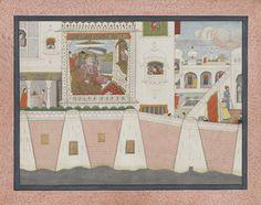 Palace Scene with Emperor Aurangzeb
