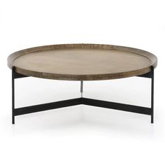Camden Coffee Table – Elm & Iron Reclaimed Wood Coffee Table, Brass Coffee Table, Round Coffee Table, Best Coffee Tables, Tray Styling, Round Tray, Cocktail Tables, Table Furniture, Regency Furniture