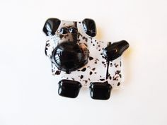 Dalmatian Dog Magnet Dog Lover Gift Fused Glass by LaRocheStudios
