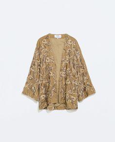 Image 4 of HANDMADE VELVET KIMONO from Zara