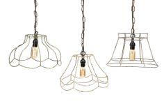 Modern Rustic Industrial Wire Frame Pendants Lights