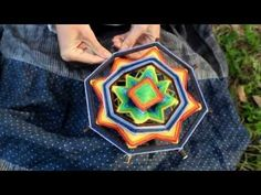 2014 summer solstice family craft - Как сплести индейскую мандалу - мастер-класс Анны Фениной - YouTube