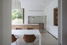 walnut & white kitchen