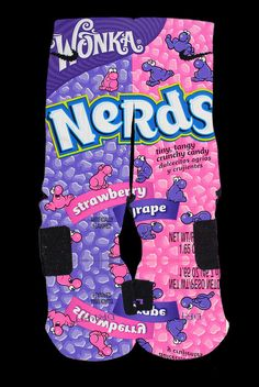 Nerds Inspired Custom Nike Elite Socks by InWestCoastCreations