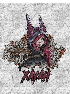 League of Legends - XAYAH - Graffiti style by Naumovski