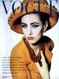 Vogue-February 1962 by Fashion Covers Magazines The gorgeous Maggie Eckhart.  Beautiful inside and out.