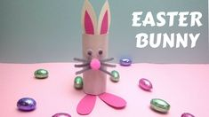 Easter Crafts – Toilet Paper Roll Easter Bunny – Toilet Paper Roll Crafts - YouTube
