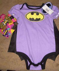 89dbe9c0bc9 BATMAN BAT GIRL 6-12 MONTHS BABY INFANT ROMPER - HAIRWRAP   CLIPS COSTUME  NEW  DCCOMICS  CompleteOutfit. NJChick s Closet · DC COMIC S