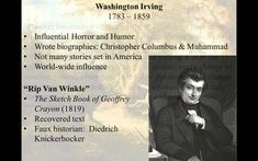 """A brief video introduction to Washington Irving and his short story, """"Rip Van Winkle"""" for an American Literature 1 course taught at North Shore Community College in the hybrid-flexible model by Lance Eaton."""