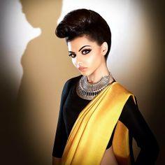 Funky sari styling!