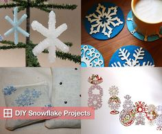 DIY Snowflake Projects For Winter Decorating
