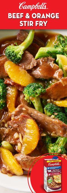Beef and Orange Stir-fry Recipe Quick Beef Recipes, Corned Beef Recipes, Supper Recipes, Stir Fry Recipes, Quick Meals, Meat Recipes, Asian Recipes, Cooking Recipes, Healthy Recipes