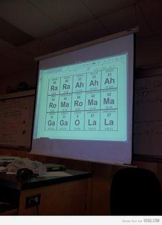 Cool Chemistry teacher