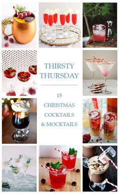Thirsty Thursday: 15 Christmas Cocktails & Mocktails