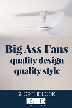 Big Ass Fans are crafted from premium materials, designed for timeless style, engineered for optimal performance and able to sense occupancy, temperature and humidity. All of their fans are made to order, too. The wide-ranging Haiku and i6 collections from Big Ass Fans are now available at LightsOnline. #CeilingFans #CeilingFansWithLight Temperature And Humidity, Lighting Online, Ceiling Fans, Haiku, Timeless Fashion, Lights, Collections, Big, Design
