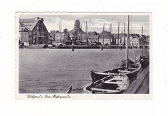 Wolgast i. Pom., Hafenpartie, gel. Ak v. 1937