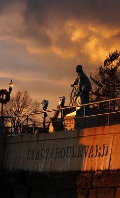 Fisherman's Statue at sunset.....just beautiful!