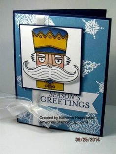 Blue Nutcracker by kathleenh - Cards and Paper Crafts at Splitcoaststampers