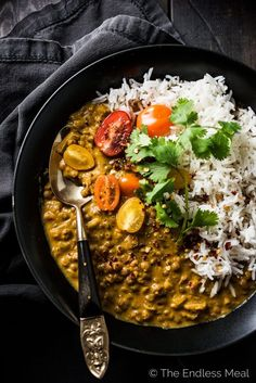 This delicious Crock Pot Coconut Lentil Curry is a slow cooker version of the most popular recipe on the blog. Throw everything into your pot, set the timer, and come home to a tasty vegetarian (and vegan!) dinner. You will LOVE it! | theendlessmeal.com | #lentils #lentilcurry #vegan #crockpot #crockpotrecipes #slowcooker #slowcookerrecipes #vegetarian