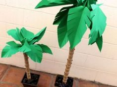 Make a Paper Palm Tree Paper palm trees make for perfect summer decor.Paper palm trees make for perfect summer decor.to Make a Paper Palm Tree Paper palm trees make for perfect summer decor.Paper palm trees make for perfect summer decor. Paper Palm Tree, Palm Trees, Palm Tree Crafts, Mini Palm Tree, Palm Tree Art, Palm Tree Leaves, Hawaiian Theme, Hawaiian Luau, Hawaiian Parties