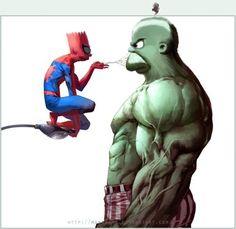 spiderbart vs hulkmero - Otros | Dibujando.net