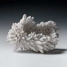 "Junko Mori: A Silver Organism; Urchin, A Silver Organism; Urchin, 2014 Forged Fine silver 999, 1,745g Height 14.5cm (5 3/4"") Width 20cm (7 7/8"") Depth 15cm (5 7/8"")"